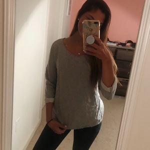 super cute grey blouse